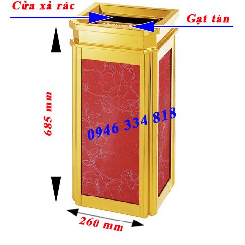 thông số thùng rác sảnh FG 106