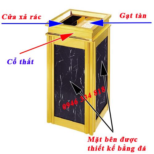các chi tiết thông số kỹ thuật thùng rác sảnh FG-106A7